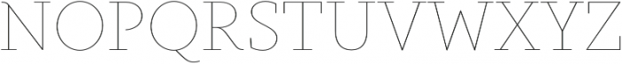 Gauthier Display FY Thin otf (100) Font UPPERCASE