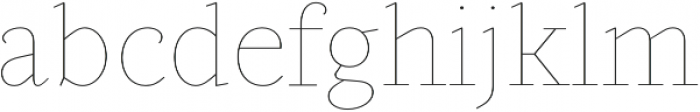 Gauthier Display FY Thin otf (100) Font LOWERCASE