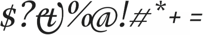 Gauthier FY Medium Italic otf (500) Font OTHER CHARS