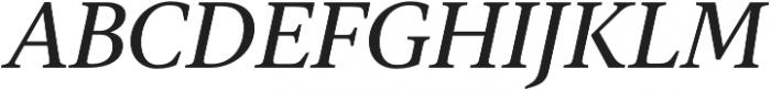 Gauthier FY Medium Italic otf (500) Font UPPERCASE
