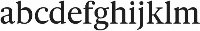 Gauthier FY Medium otf (500) Font LOWERCASE