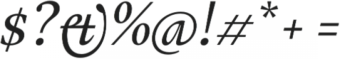 Gauthier Next FY Medium Italic otf (500) Font OTHER CHARS