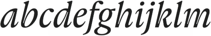 Gauthier Next FY Medium Italic otf (500) Font LOWERCASE
