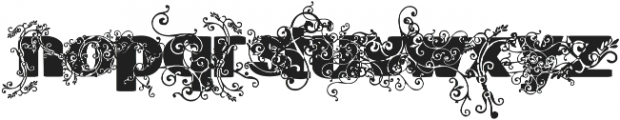Gavinha Regular ttf (400) Font UPPERCASE