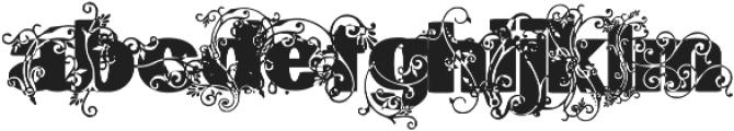 Gavinha Regular ttf (400) Font LOWERCASE