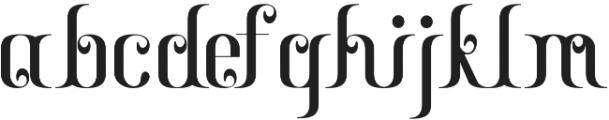 Gayatri otf (400) Font LOWERCASE