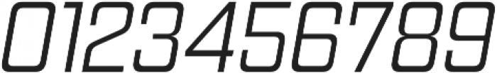 Gaz Light Italic otf (300) Font OTHER CHARS
