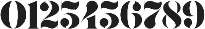 Gaze Stencil ttf (400) Font OTHER CHARS
