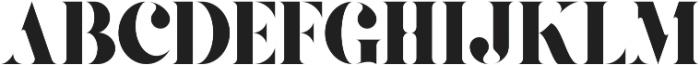Gaze Stencil ttf (400) Font UPPERCASE