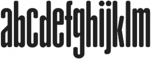 gAbAcHiTA Regular otf (400) Font LOWERCASE