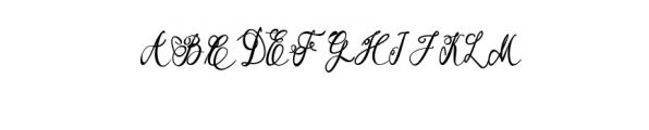 Garbera Flower Font UPPERCASE