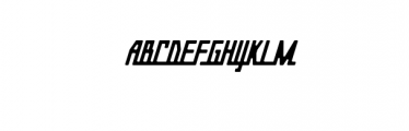 Gasoline Typeface Font UPPERCASE