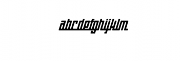Gasoline Typeface Font LOWERCASE