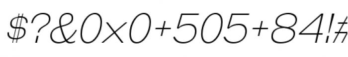 Galderglynn Esq Extra Light Italic Font OTHER CHARS