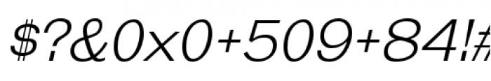 Galderglynn Esq Light Italic Font OTHER CHARS