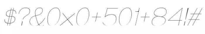 Galderglynn Esq Ultra Light Italic Font OTHER CHARS