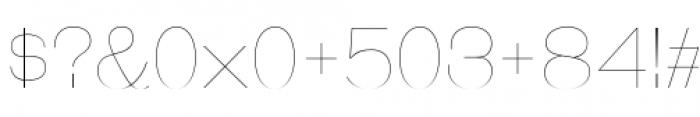 Galderglynn Esq Ultra Light Font OTHER CHARS