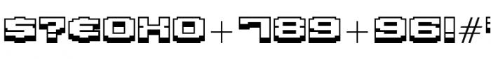 Gargantua BTN Shadow Font OTHER CHARS