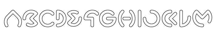 GABRIELLE-Hollow Font UPPERCASE