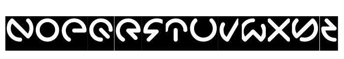 GABRIELLE-Inverse Font UPPERCASE