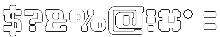 GAME ROBOT-Hollow Font OTHER CHARS