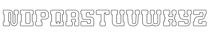 GAME ROBOT-Hollow Font UPPERCASE