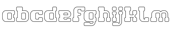 GAME ROBOT-Hollow Font LOWERCASE