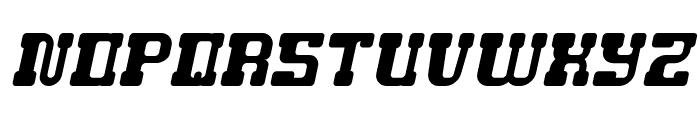 GAME ROBOT Italic Font UPPERCASE