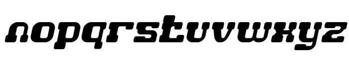 GAME ROBOT Italic Font LOWERCASE