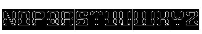 GAMER-Hollow-Inverse Font UPPERCASE