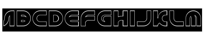 GAPHIC DESIGN-Hollow-Inverse Font UPPERCASE