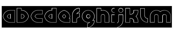 GAPHIC DESIGN-Hollow-Inverse Font LOWERCASE