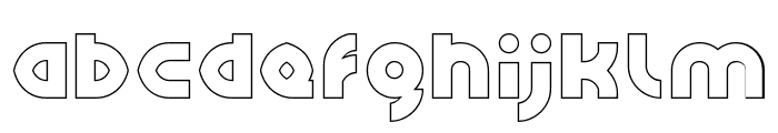 GAPHIC DESIGN-Hollow Font LOWERCASE