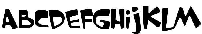 GARFIELD the CAT Font UPPERCASE