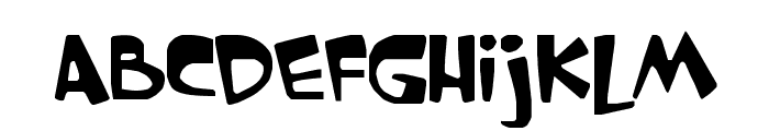 GARFIELD the CAT Font LOWERCASE