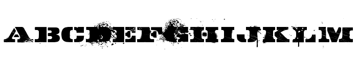GASMASK Font UPPERCASE