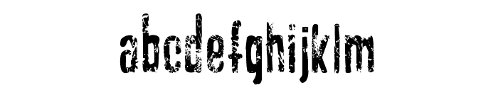 GASOLINE scratchy Font LOWERCASE