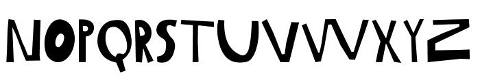Gabi Sans Irregular Font LOWERCASE