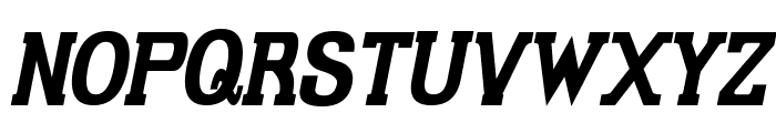 Gabriel Serif Condensed Bold Italic Font UPPERCASE