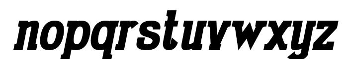 Gabriel Serif Condensed Bold Italic Font LOWERCASE