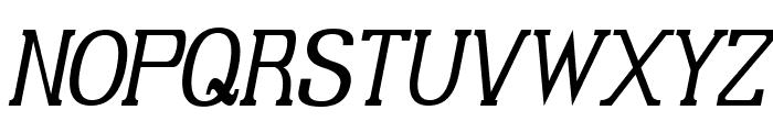 Gabriel Serif Condensed Italic Font UPPERCASE