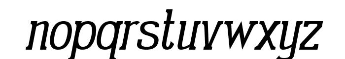 Gabriel Serif Condensed Italic Font LOWERCASE