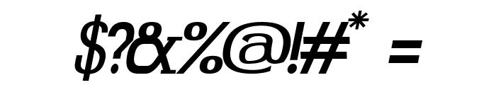 Gabriel Serif Italic Font OTHER CHARS