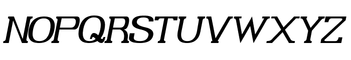 Gabriel Serif Italic Font UPPERCASE