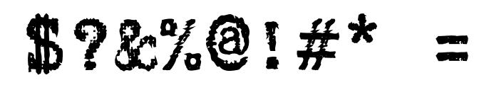 Gabriele Black Ribbon FG Regular Font OTHER CHARS