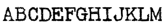 Gabriele Black Ribbon FG Regular Font UPPERCASE