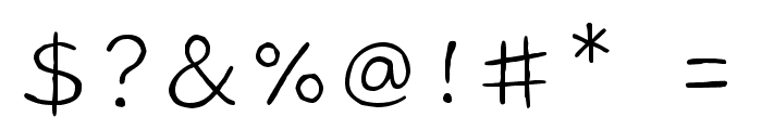 Gaegu Light Font OTHER CHARS