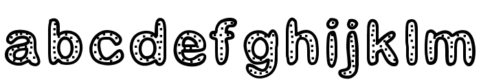 GaelleNumber2 Font LOWERCASE