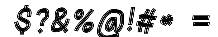 Gaffer's Tape Italic Font OTHER CHARS