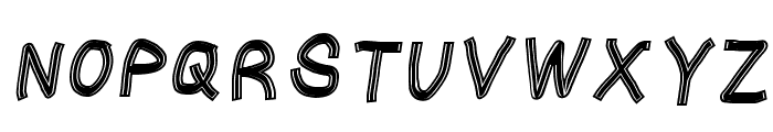 Gaffer's Tape Italic Font UPPERCASE
